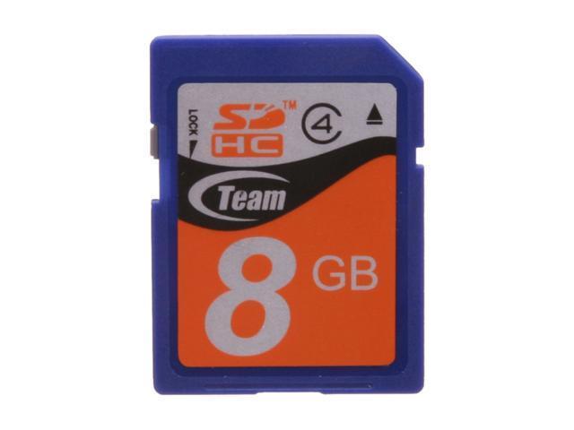Team 8GB Secure Digital High-Capacity (SDHC) Flash Card Model TG008G0SD24X