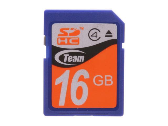 Team 16GB Secure Digital High-Capacity (SDHC) Flash Card Model TG016G0SD24X