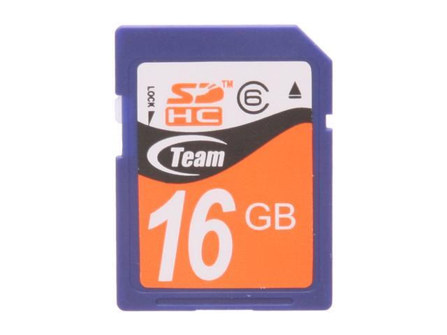 Team 16GB Secure Digital High-Capacity (SDHC) Flash Card Model TG016G0SD26X