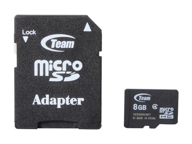 Team 8GB microSDHC Flash Card Model TG008G0MC24A