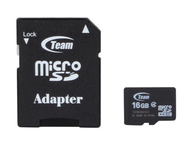 Team 16GB microSDHC Flash Card Model TG016G0MC24A