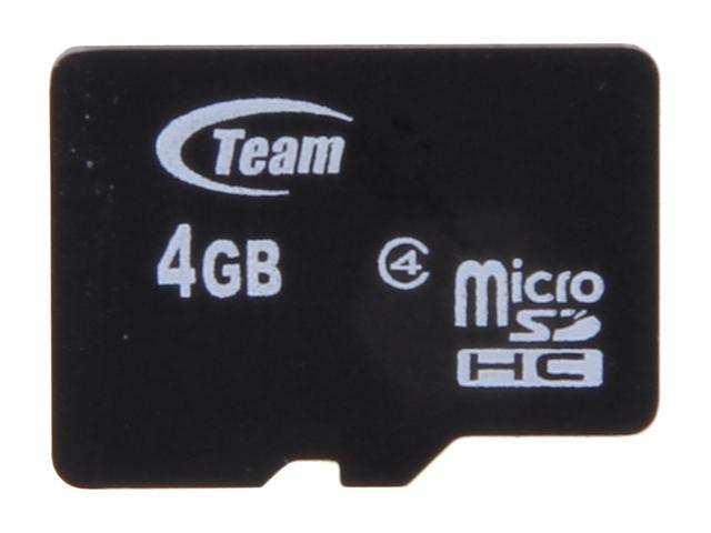 Team 4GB microSDHC Flash Card (Card Only) Model TG004G0MC24X