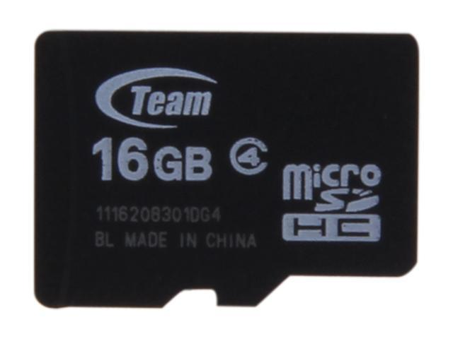Team 16GB microSDHC Flash Card (Card Only) Model TG016G0MC24X