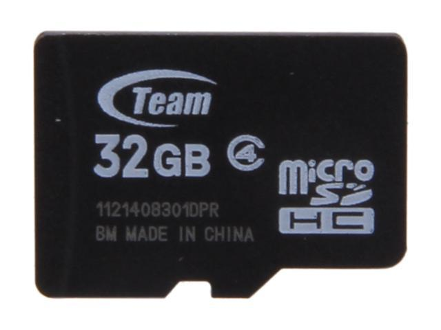 Team 32GB microSDHC Flash Card (Card Only) Model TG032G0MC24X