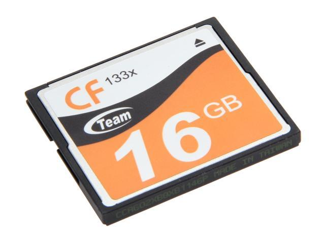Team 16GB Compact Flash (CF) Flash Card Model TG00AG2NCFFX