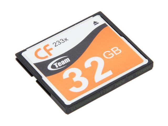Team 32GB Compact Flash (CF) Flash Card Model TG00BG2NCFJX