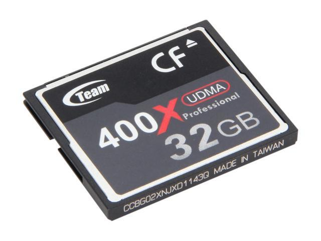 Team 32GB Compact Flash (CF) Flash Card Model TG032G2NCFDX