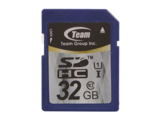 Team 32GB Secure Digital High-Capacity (SDHC) Flash Card Model TG032G0SD3FX
