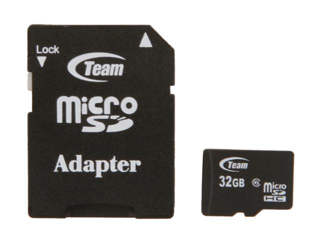 Team 32GB microSDHC Flash Card with Adapter Model TG032G0MC26A