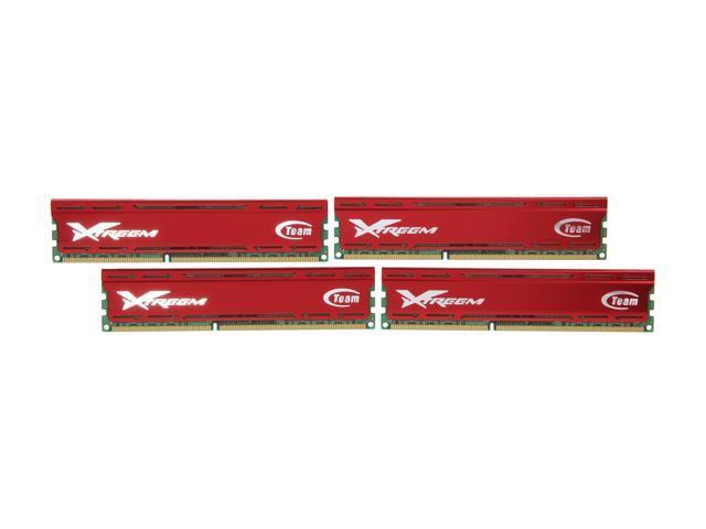 Team Vulcan 32GB (4 x 8GB) 240-Pin DDR3 SDRAM DDR3 1600 (PC3 12800) Desktop Memory Model TXD332G1600HC9QC-V