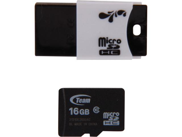 Team 16GB microSDHC Flash Card Model TUSDH16GCL1029