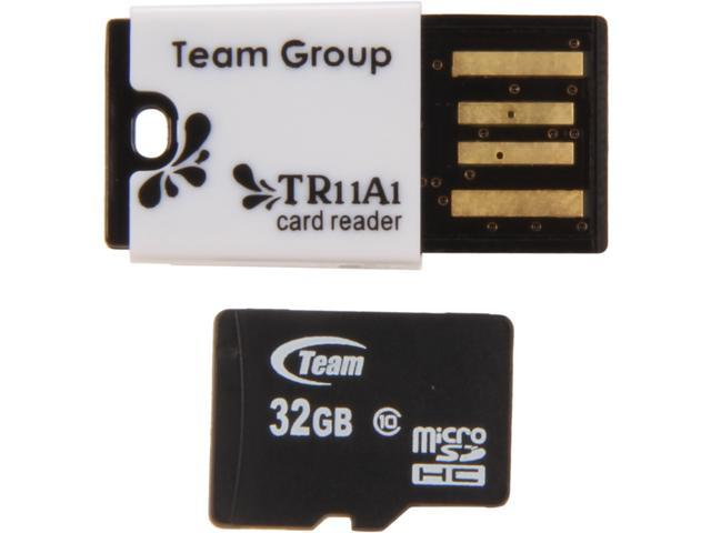 Team 32GB microSDHC Flash Card Model TUSDH32GCL1029