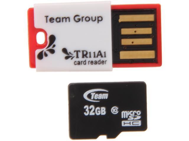 Team 32GB microSDHC Flash Card Model TUSDH32GCL1030