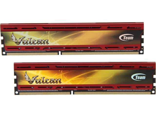 Team Vulcan 8GB (2 x 4GB) 240-Pin DDR3 SDRAM DDR3 2400 (PC3 19200) Desktop Memory Model TLD38G2400HC11CDC01