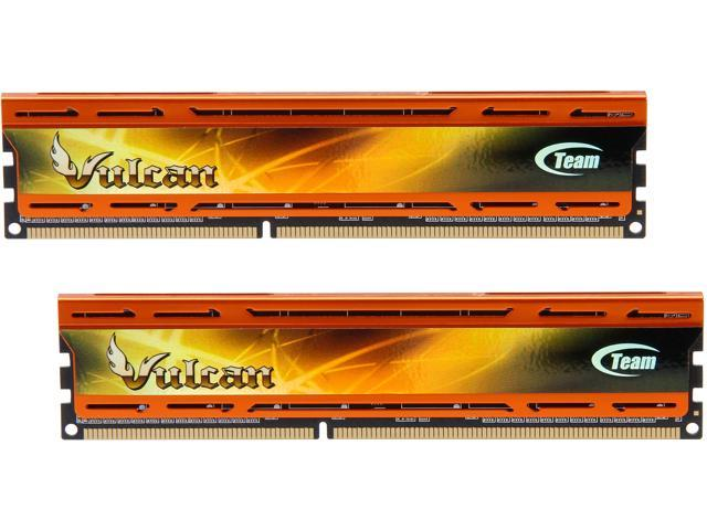 Team Vulcan 8GB (2 x 4GB) 240-Pin DDR3 SDRAM DDR3 2400 (PC3 19200) Desktop Memory Model TLAD38G2400HC11DC01
