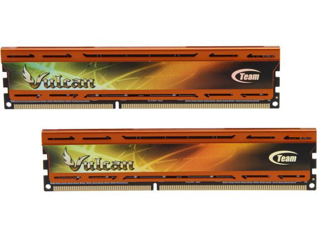 Team Vulcan ORANGE 8GB (2 x 4GB) 240-Pin DDR3 SDRAM DDR3 2133 (PC3 17000) Desktop Memory Model TLAD38G2133HC11ADC01