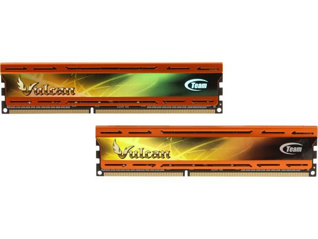 Team Vulcan 8GB (2 x 4GB) 240-Pin DDR3 SDRAM DDR3 2133 (PC3 17000) Desktop Memory Model TLAD38G2133HC10QDC01