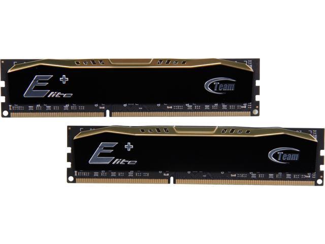 Team Elite Plus 16GB (2 x 8GB) 240-Pin DDR3 SDRAM DDR3 1333 (PC3 10600) Desktop Memory Model TPD316G1333C9DC01