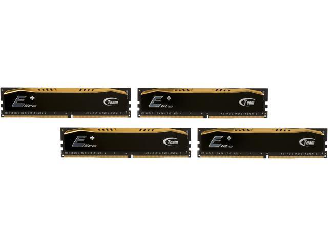 Team Elite Plus 16GB (4 x 4GB) 288-Pin DDR4 SDRAM DDR4 2133 (PC4 17000) Desktop Memory Model TPD416GM2133HC15QC01