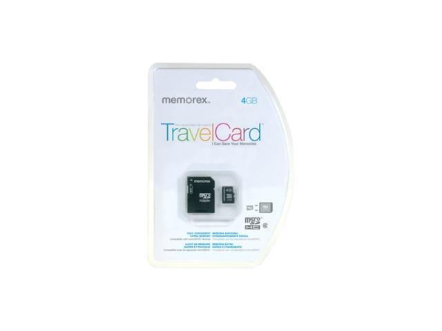 Memorex TravelCard 4GB Secure Digital High-Capacity (SDHC) Flash Card Model 98053