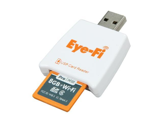 Eye-Fi Pro X2 8GB Secure Digital High-Capacity (SDHC) Wi-Fi Flash Card Model EYEFI8PC