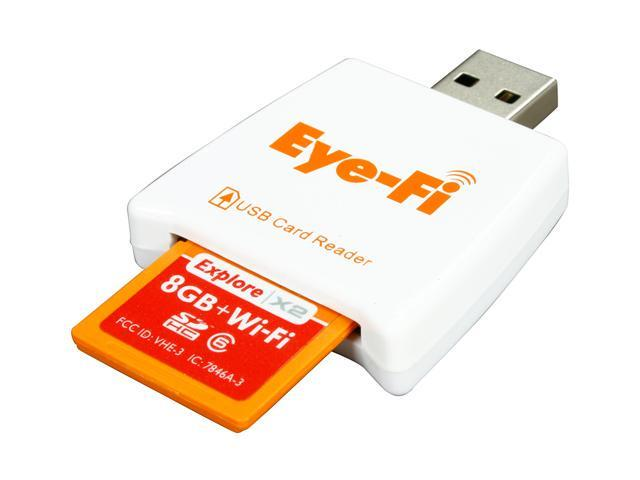 Eye-Fi Explore X2 8GB Secure Digital High-Capacity (SDHC) Wireless Flash Card Model EYE-FI-8EX