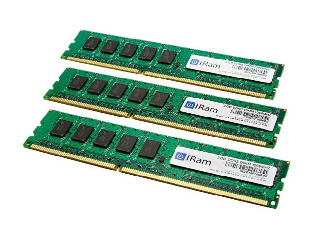 iRam 6GB (3 x 2GB) DDR3 1066 (PC3 8500) ECC Memory For Apple Model IR6GMP1066TC
