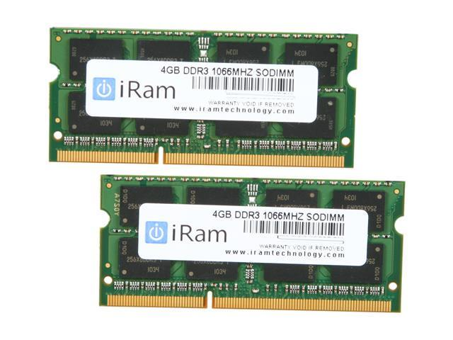 iRam 8GB (2 x 4GB) 204-Pin DDR3 SO-DIMM DDR3 1066 (PC3 8500) Memory for Apple Model IR8GSO1066D3K