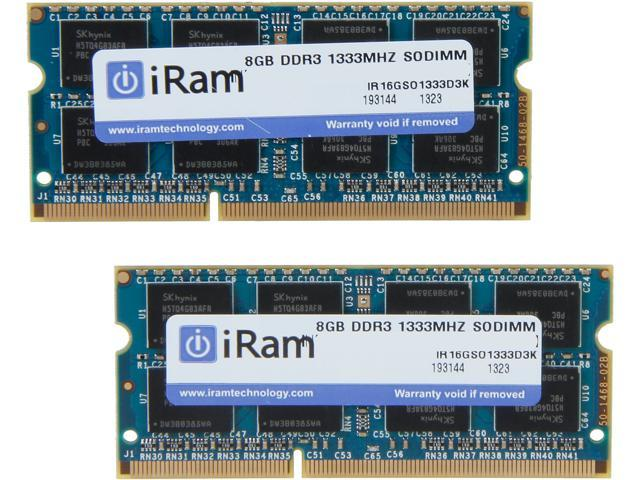 iRam 16GB (2 x 8GB) DDR3 1333 (PC3 10600) Memory for Apple Model IR16GSO1333D3K