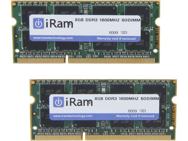 iRam 16GB (2 x 8GB) DDR3 1600 (PC3 12800) Memory for Apple Model IR16GSO1600D3K