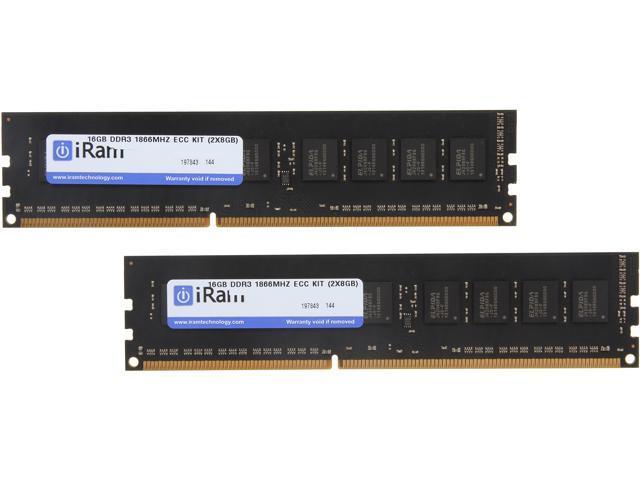 iRam 16GB (2 x 8GB) DDR3 1866 (PC3 14900) ECC Memory for Apple Model IR16GMP1866D3K
