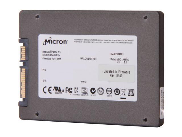 "Micron RealSSD P400e MTFDDAK050MAR-1J1AA 2.5"" 50GB SATA III MLC Enterprise Solid State Drive"