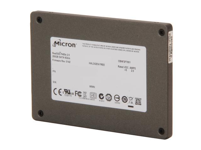 "Micron RealSSD P400e 2.5"" SATA III MLC MTFDDAK200MAR-1K1AA"