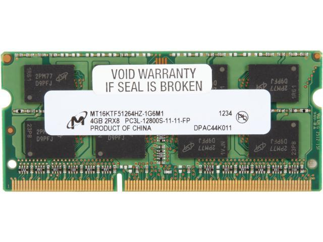 Micron 4GB 204-Pin DDR3 SO-DIMM DDR3L 1600 (PC3L 12800) Laptop Memory Model MT16KTF51264HZ-1G6M1