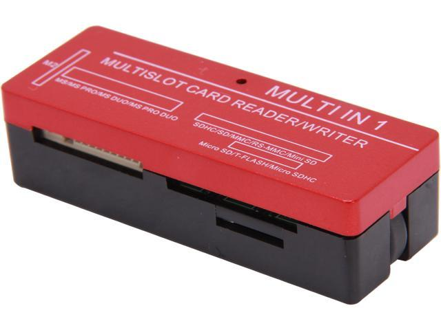 inland 08308 USB 2.0 support MS, SD, MINI SD and support T-F, M2 memory cards, All-in-One Universal Card Reader