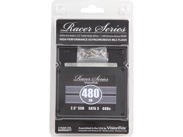 "VisionTek Racer 2.5"" 480GB SATA 6Gb/s MLC Internal Solid State Drive (SSD) 900501"