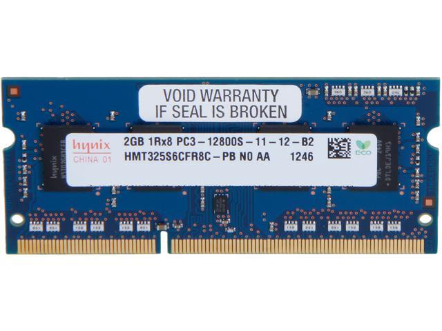 Hynix 2GB 204-Pin DDR3 SO-DIMM DDR3 1600 (PC3 12800) Laptop Memory Model HMT325S6CFR8C-PB