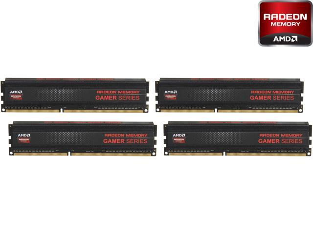 AMD Radeon RG2133 Gamer Series 16GB (4 x 4GB) 240-Pin DDR3 SDRAM DDR3 2133 (PC3 17000) Desktop Memory Model AG316G2130U1Q