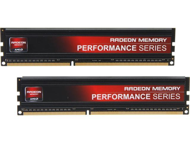 AMD Radeon Performance Series 8GB (2 x 4GB) 240-Pin DDR3 SDRAM DDR3 1866 (PC3 14900) Desktop Memory Model AP38G1869U1K