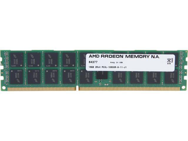 AMD Radeon 16GB 240-Pin DDR3 SDRAM ECC Registered DDR3 1333 (PC3 10600) Server Memory Model AS316G1339R24LU