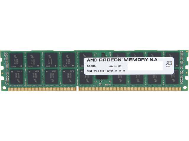 AMD Radeon 16GB 240-Pin DDR3 SDRAM ECC Registered DDR3 1600 (PC3 12800) Server Memory Model AS316G1601R24SU