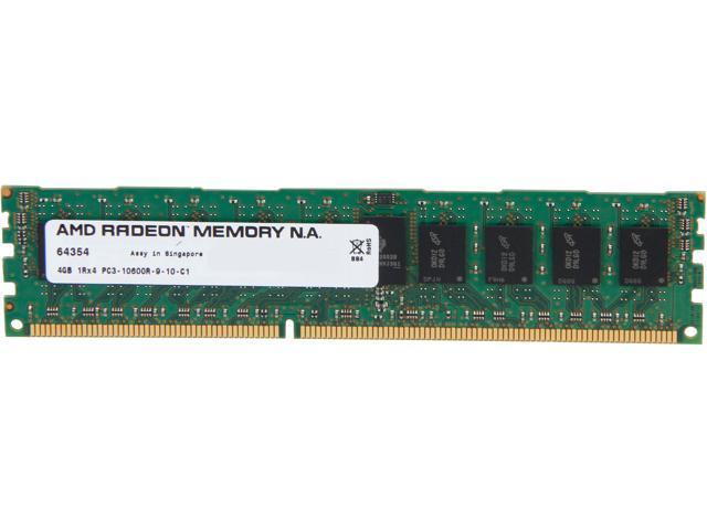 AMD Radeon 4GB 240-Pin DDR3 SDRAM ECC Registered DDR3 1333 (PC3 10600) Server Memory Model AS34G1339R14SU