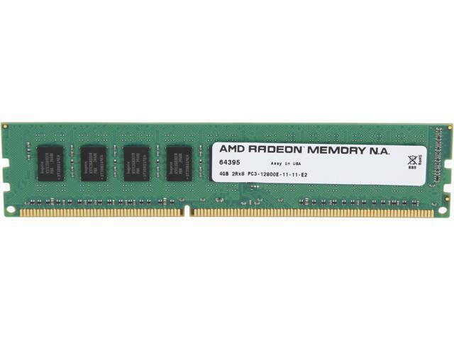 AMD Radeon 4GB 240-Pin DDR3 SDRAM ECC Unbuffered DDR3 1600 (PC3 12800) Server Memory Model AS34G1601E28SU