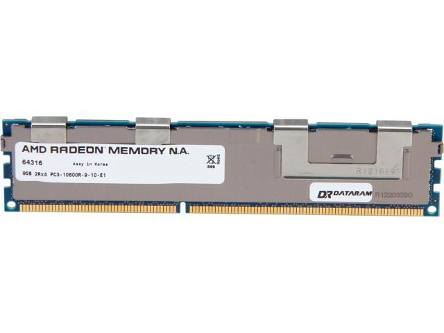 AMD Radeon 8GB 240-Pin DDR3 SDRAM ECC Registered DDR3 1333 (PC3 10660) Server Memory Model AS38G1339R24SU