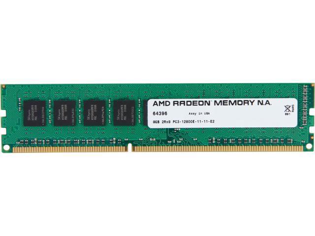 AMD Radeon 8GB 240-Pin DDR3 SDRAM ECC Unbuffered DDR3 1600 (PC3 12800) Server Memory Model AS38G1601E28SU