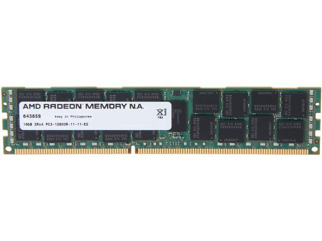 AMD Radeon 16GB 240-Pin DDR3 SDRAM DDR3 1600 (PC3 12800) ECC Registered Server Memory For HP Model ASH81600R/16GB