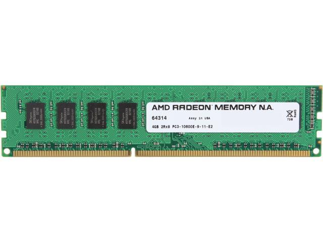 AMD Radeon 4GB 240-Pin DDR3 SDRAM ECC Unbuffered DDR3 1333 (PC3 10600) Server Memory Model ASH1333U/4GB