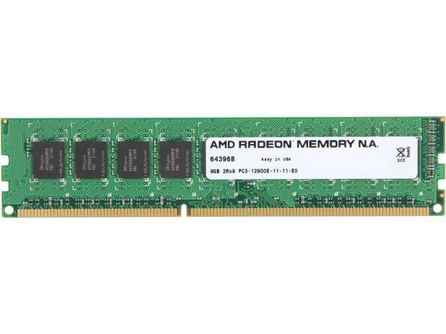 AMD Radeon 8GB 240-Pin DDR3 SDRAM ECC Unbuffered DDR3 1600 (PC3 12800) Server Memory Model ASH81600U/8GB