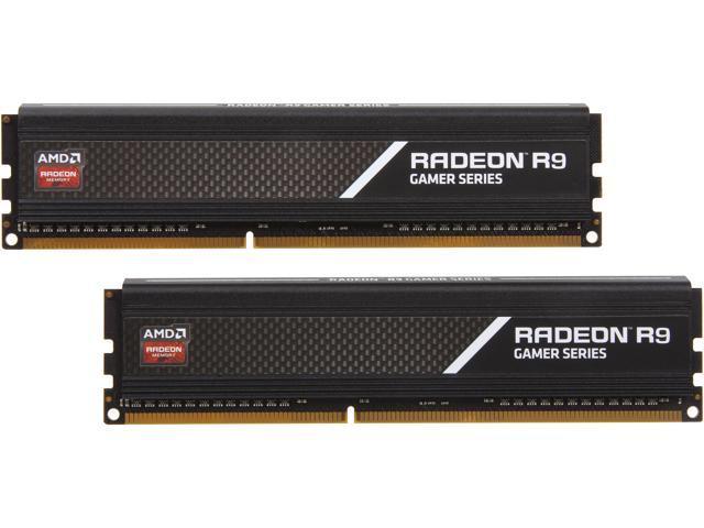 AMD Radeon R9 Gamer Series 8GB (2 x 4GB) 240-Pin DDR3 SDRAM DDR3 2400 (PC3 19200) Desktop Memory Model R938G2401U1K