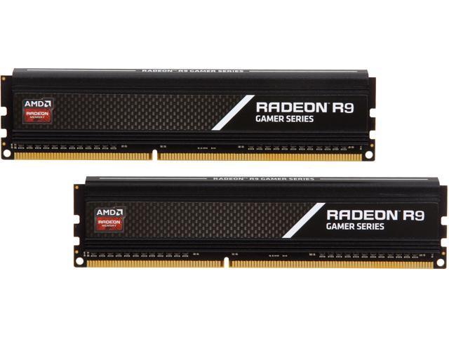 AMD Radeon R9 Gamer Series 8GB (2 x 4GB) 240-Pin DDR3 SDRAM DDR3 2133 (PC3 17000) Desktop Memory Model R938G2130U1K